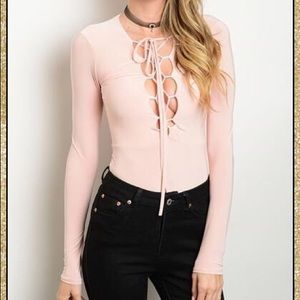 Tops - Pull Me Closer' Lace Up Body Suit